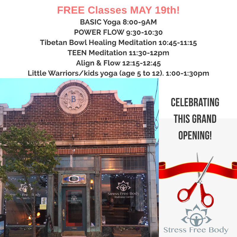 Grand Opening May 19th Free Classes ALL DAY
