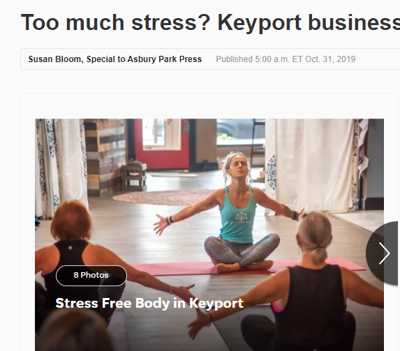 Asbury Park Press article: Too much stress?